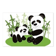 Panda Bamboo Family Postcards (Package of 8)