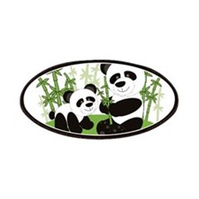 Panda Bamboo Family Patches