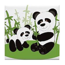 Panda Bamboo Family Tile Coaster