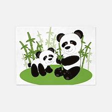 Panda Bamboo Family 5'x7'Area Rug