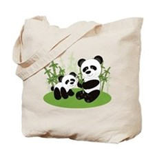 Panda Bamboo Family Tote Bag