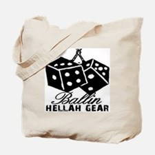 HELLAH GEAR BALLIN TEE WHITE Tote Bag