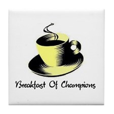 Breakfast Of Champions Tile Coaster