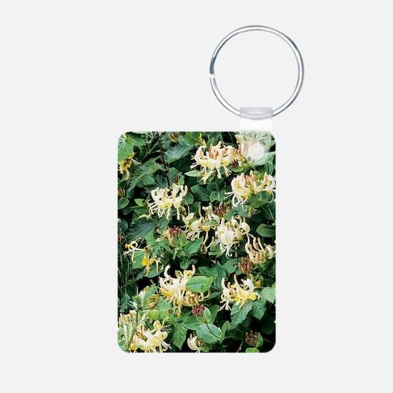 Honeysuckle (Lonicera peri Keychains