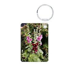 Hollyhock (Alcea rosea) Keychains