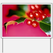 Holly berries Yard Sign