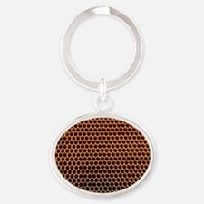 Honeycomb core Oval Keychain