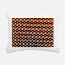 Honeycomb core Rectangular Canvas Pillow