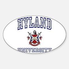 HYLAND University Oval Decal
