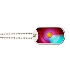 Higgs Boson particle, artwork Dog Tags