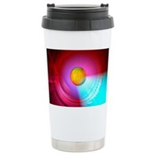Higgs Boson particle, artwork Travel Mug