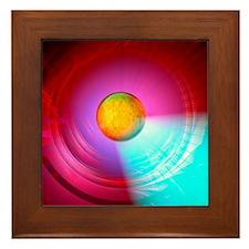 Higgs Boson particle, artwork Framed Tile