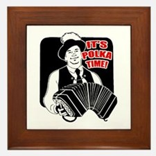 It's Polka Time Framed Tile