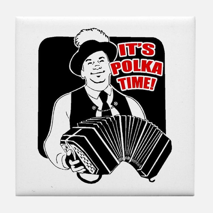 It's Polka Time Tile Coaster