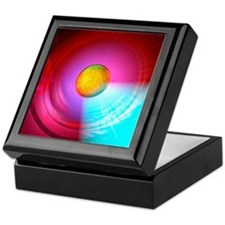 Higgs Boson particle, artwork Keepsake Box