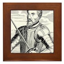 Hernando de Soto, Spanish explorer Framed Tile