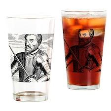 Hernando de Soto, Spanish explorer Drinking Glass