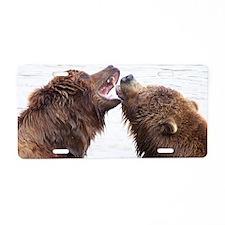 Brown Bears2 Aluminum License Plate