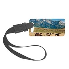 Herd of American Bison Luggage Tag