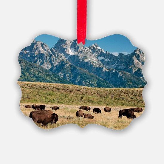 Herd of American Bison Ornament