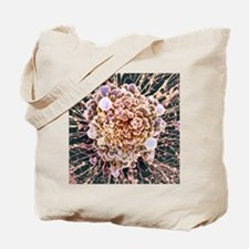 HeLa cell dying, SEM Tote Bag