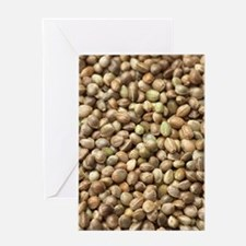 Hemp seeds Greeting Card
