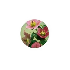 Hellebore flowers Mini Button