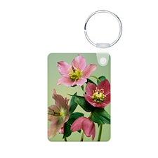 Hellebore flowers Keychains