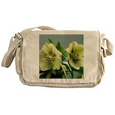 Hellebore flowers Messenger Bag