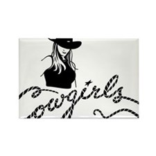 cowgirl2 Rectangle Magnet