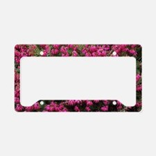 Heather 'Nathalie' flowers License Plate Holder