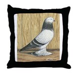 Blue Grizzle West Throw Pillow
