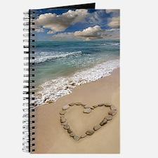 Heart-shape on a beach Journal