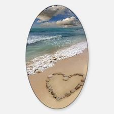 Heart-shape on a beach Decal