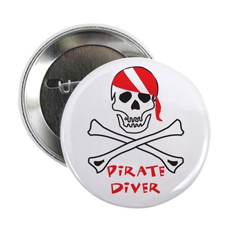 """Pirate Diver 2.25"""" Button (10 pack)"""