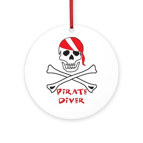 Pirate Diver Ornament (Round)