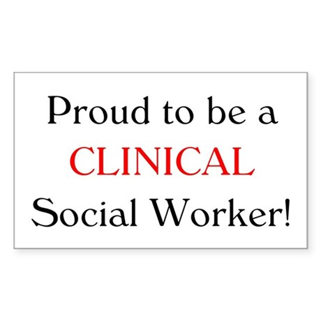 Proud Clinical SW Rectangle Sticker