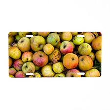 Harvested organic apples Aluminum License Plate