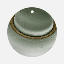Hearing aid battery, SEM Round Ornament