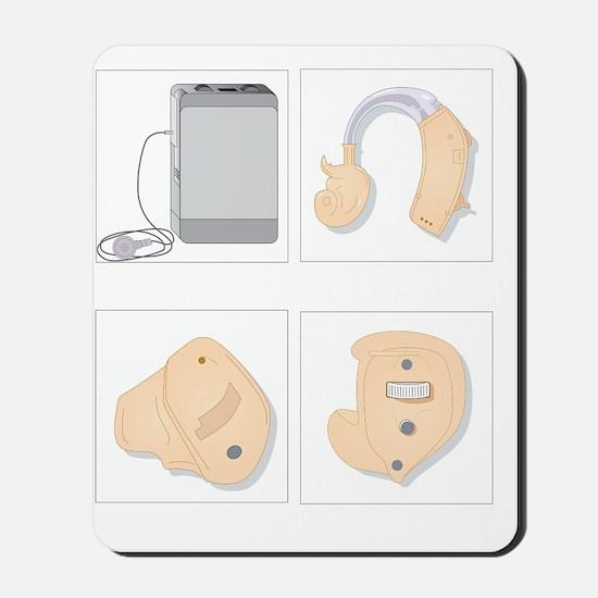 Hearing aids, artwork Mousepad