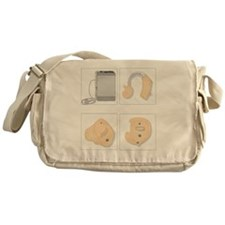 Hearing aids, artwork Messenger Bag