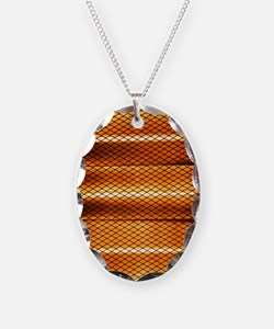 Halogen heater Necklace Oval Charm
