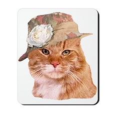 TABBY CAT IN HAT Mousepad