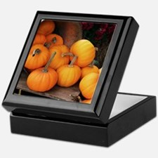 Harvested pumpkins Keepsake Box