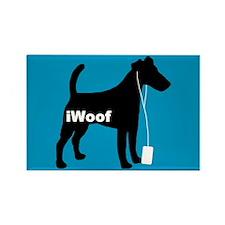 iWoof Fox Terrier Rectangle Magnet