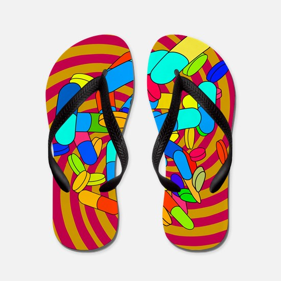 Hallucinogenic drugs, conceptual image Flip Flops