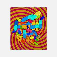 Hallucinogenic drugs, conceptual ima Throw Blanket