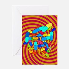 Hallucinogenic drugs, conceptual ima Greeting Card