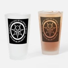 Mark of the Beast white and black Drinking Glass