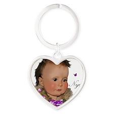 Family_NyahT Heart Keychain